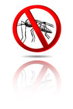 Simple hand draw sketch sign, No Mosquito Royalty Free Stock Photography