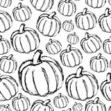 Simple hand drawn doodle pumpkin seamless pattern eps10 Royalty Free Stock Image