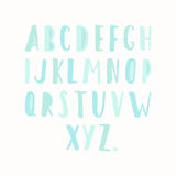 Simple hand drawn letters Stock Photos