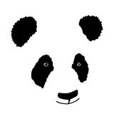 Simple hand drawn panda icon Stock Photography