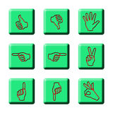 Simple Hand Signages Royalty Free Stock Images