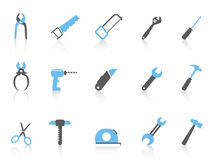 Simple hand tool icons,color series Stock Photography