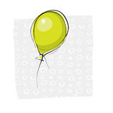 Simple handdrawn baloon. Illustration Stock Photos