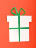 Gift. Simple handmade paper Christmas gift Royalty Free Stock Photography