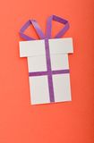 Gift. Simple handmade paper Christmas gift Royalty Free Stock Image