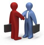 Simple handshake Stock Images