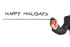 Simple Happy holidays greeting Stock Photo