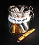 Simple Happy New Year Concept Decoration Royalty Free Stock Photography