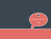 Simple Happy Valentine's day greeting Royalty Free Stock Image