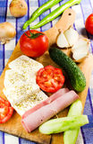 Simple and healthy appetizer Royalty Free Stock Image