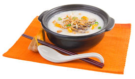 Simple and healthy porridge cooked with sweet potato. For diet a Royalty Free Stock Photo
