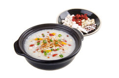 Simple and healthy porridge cooked with sweet potato. For diet a Stock Images