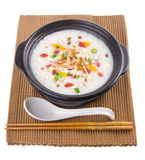 Simple and healthy porridge cooked with sweet potato. For diet a Royalty Free Stock Photos