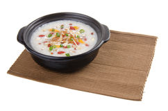Simple and healthy porridge with sweet potato Stock Image