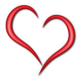 Simple heart. Illustration of a simple red heart on white background Royalty Free Stock Photography