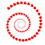 Simple Heart Spiral Stock Photography