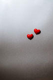 Simple hearts on gray background Stock Photo