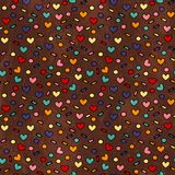 Simple hearts seamless grunge background Royalty Free Stock Photography