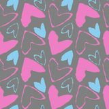 Simple hearts seamless pattern. Valentines day background. Simple hearts seamless pattern. Valentines day background Vector Illustration