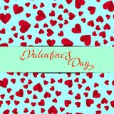 Simple hearts seamless  pattern. Valentines day background. Flat design endless chaotic texture made of tiny heart silhouett Royalty Free Stock Photo