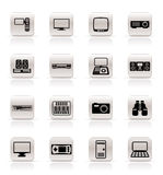 Simple Hi-tech equipment icons Stock Images