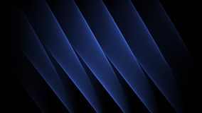 Abstract diagonal blue holographic sheets animated to loop endlessly