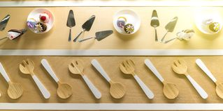 Simple home kitchen modern and stylish decoration. Royalty Free Stock Photos