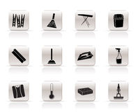 Simple Home objects and tools icons vector illustration