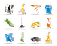Simple Home objects and tools icons Royalty Free Stock Photo