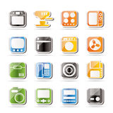 Simple Home and Office, Equipment Icons Stock Photography