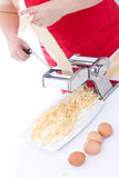 Simple homemade pasta Stock Images