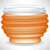 Simple honey jar Royalty Free Stock Photography