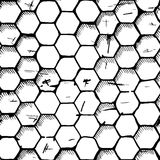 Simple honeycomb pattern Stock Images
