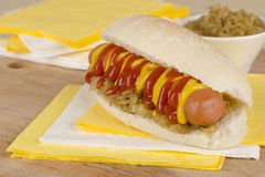 Simple Hot Dog Stock Photography