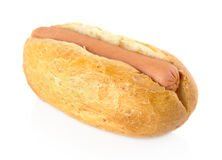 Simple hot dog on white Royalty Free Stock Photography