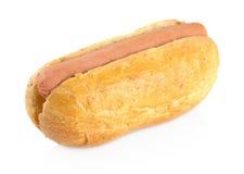 Simple hot dog on white Stock Photo