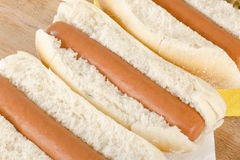 Simple Hot Dogs Stock Images