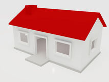 Simple House. A simple house with red roof Royalty Free Stock Image