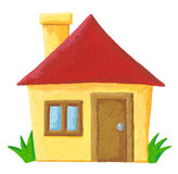 Simple house. Acrylic illustration of simple house Royalty Free Stock Photography