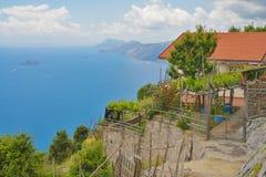Simple house on the Amalfi coast Stock Photos