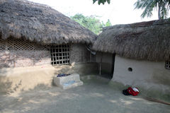 A simple house in Bengali village Stock Photo