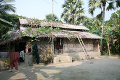 Simple house in Bengali village Royalty Free Stock Image