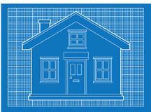 Simple house blueprints Royalty Free Stock Photo