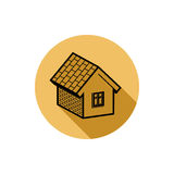Simple house detailed vector illustration. Property developer co Royalty Free Stock Photos