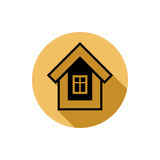 Simple house detailed vector illustration. Property developer co Royalty Free Stock Image