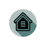 Simple house detailed vector illustration. Property developer co Royalty Free Stock Photography
