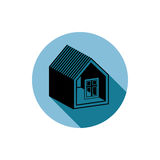 Simple house detailed vector illustration. Property developer co Stock Photos