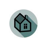 Simple house detailed vector illustration. Property developer co Stock Photo