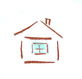 Simple house drowing Royalty Free Stock Image