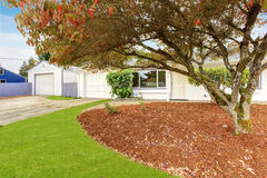 Simple house exterior with landscape Stock Photos